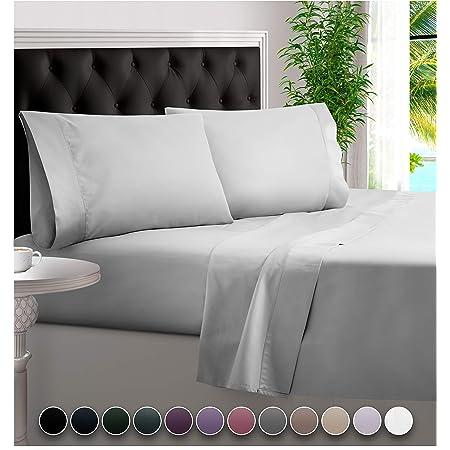 Amazon Com Bampure 100 Organic Bamboo Sheets Bamboo Bed Sheets Organic Sheets Deep Pocket Sheets Bed Set Cooling Sheets King Size White Home Kitchen