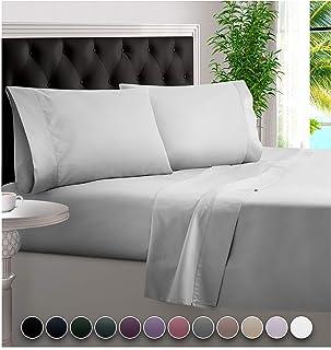 BAMPURE 100% Organic Bamboo Sheets - Bamboo Bed Sheets Organic Sheets Deep Pocket Sheets Bed Set Cooling Sheets Queen Size...