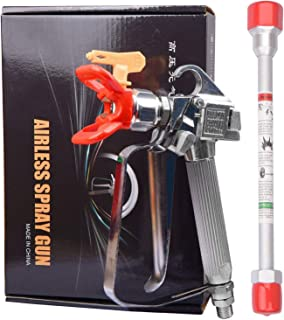 GDHXW W-078 Airless Paint Spray Gun High Pressure 3600 PSI 517 TIP with 10 Inch Extension Pole for Airless Spraying Machine