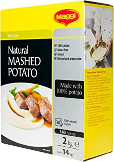 MAGGI Natural Mashed Potato, 2kg (Gluten Free, Vegan, Vegetarian, Makes 14kg, 140 Serves)