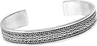 Mens 925 Sterling Silver Open Cuff Bangle Bracelet 31.2Grs