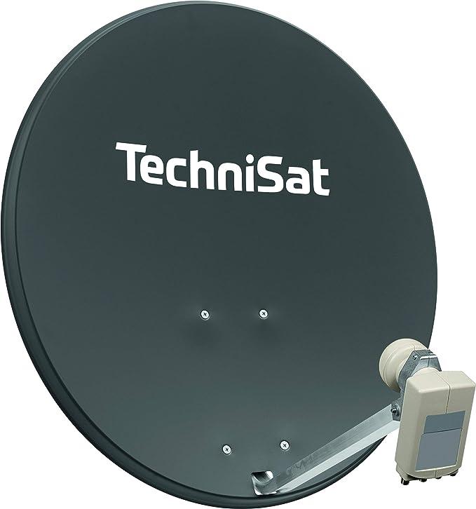 TechniSat Digitalsat 80 - Antena parabólica con Soporte para mástil (80 cm)
