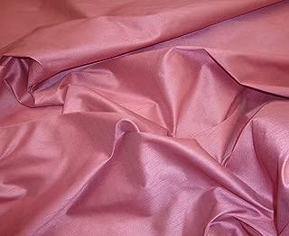 Dusty Rose Shantung Dupioni Faux Silk Fabric Per Yard