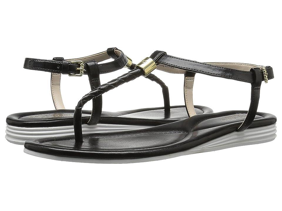 Cole Haan Original Grand Braid Sandal II (Black Leather) Women