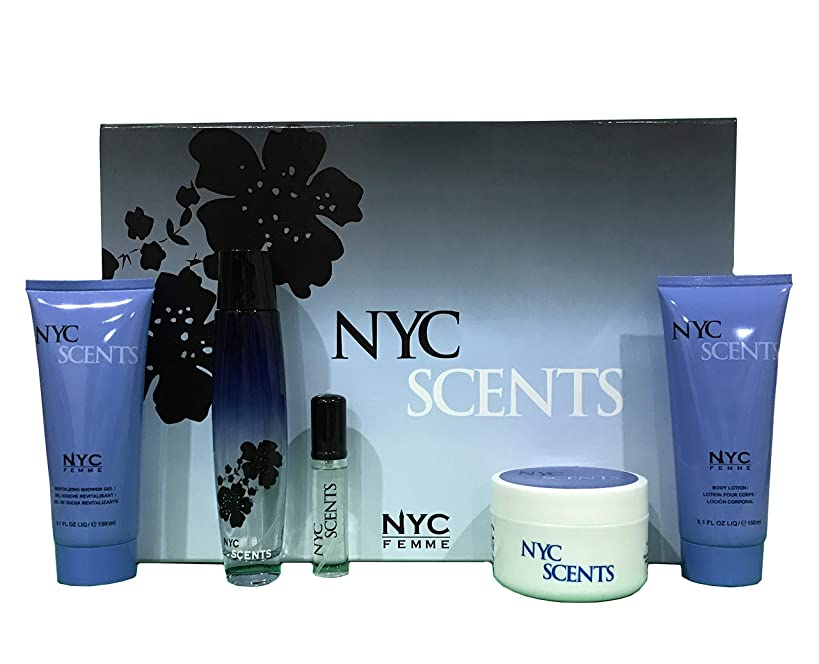 Bouquet Perfume NYC SCENTS, Inspired by CODE by GIORGIO ARMANI, 5 Pcs Women's Gift Set (Eau De Toilette, Shower Gel, Lady Powder Body Lotion), Perfect Gift, Feminine, Daytime and Casual Use