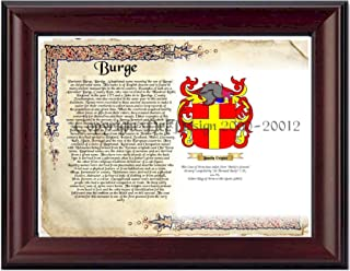 Burge Coat of Arms/ Family History 11