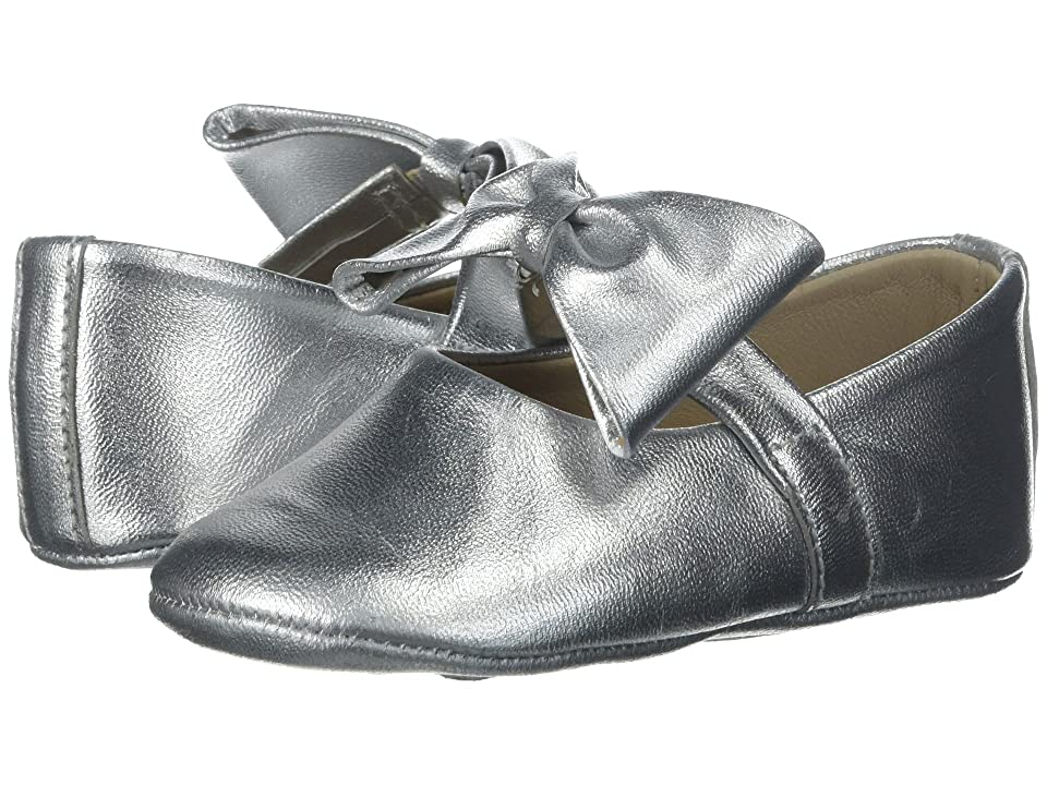 Elephantito Baby Ballerina w/ Bow (Infant/Toddler) (Silver) Girls Shoes