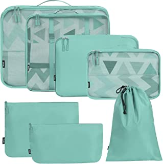 BAGAIL 7 Set / 8 Set Packing Cubes Luggage Packing Organizers for Travel Accessories