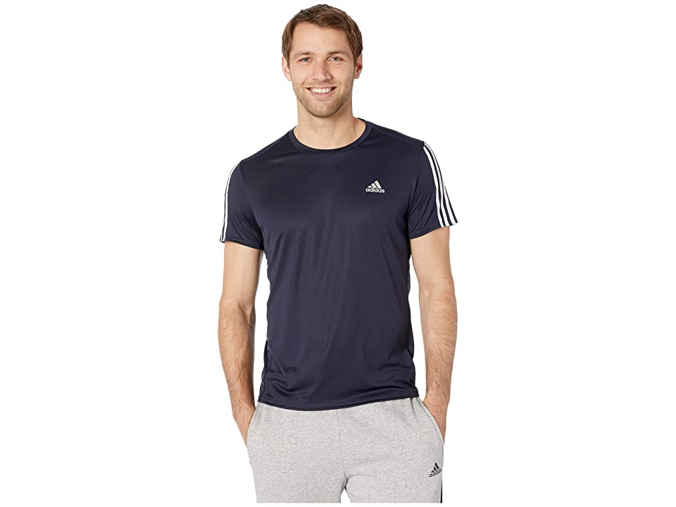 adidas Running 3-Stripes Tee (Legend Ink) Men