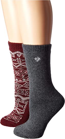 Fair Isle Wool Crew 2-Pack
