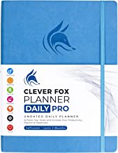 """Clever Fox Planner Daily PRO - 8.5 x 11"""" A4 Size Daily Life Planner and Gratitude Journal to Increase Productivity, Time Management and Hit Your Goals - Undated - Lasts 3 Months (Blue)"""