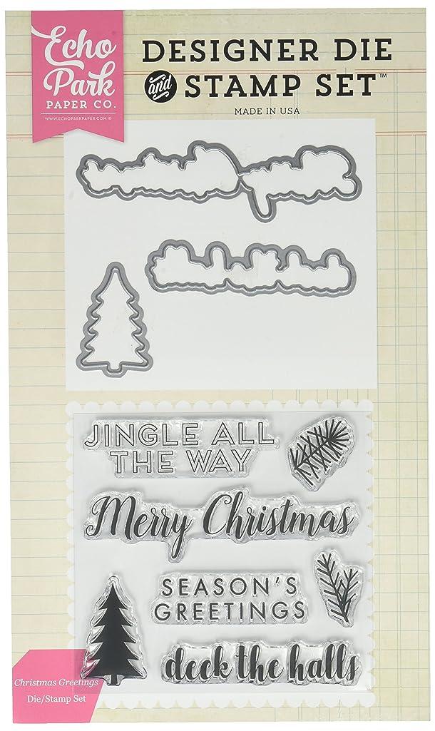 Echo Park Paper Company EPDIE/STAMP52 Christmas Greetings Die/Stamp Set