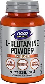 Now Foods Sports L-Glutamine Powder (5.3 Oz) Pure Powder, Nitrogen Transporter*, Amino Acid