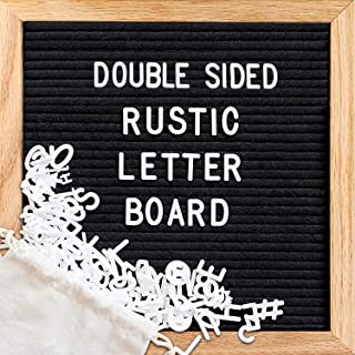 Felt Letter Board,Double Sided Letter Board &Chalkboard,Letter Board Letters,Message Board with 376 Letters/Scissors/Water Soluble Pen/Wet Tissue/Tripod Stand/Wall Mount/Mom Gift(10x10 inches)