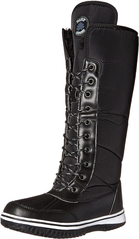DailyShoes Women's Knee High 2-Tone Up D'cor Zipper Cowboy