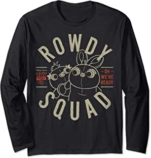 Pixar Toy Story 4 Duck & Bunny Rowdy Squad Poster Long Sleeve T-Shirt