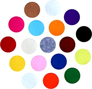 Assorted Colored Adhesive Felt Circles; 1/2