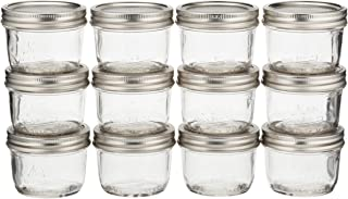 Jarden Mason Jars Half Pint 8 Oz Wide Mout Kerr, Mouth 12 / Box Pack of 2