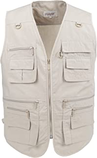 Mens Casual Utility Vest,16 Pockets Vests for Fly Fishing Photography Travel Camping Plus Size Sleeveless Jackets