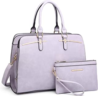 Women Satchel Handbags Shoulder Purses Totes Top Handle Work Bags with 3 Compartments