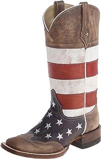 حذاء أمريكي غربي مربع للنساء من روبر, (بني), 41 EU