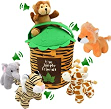 Jungle Friends Talking Plushie Set for 1 Year Old up Boy Girl Baby Realistic Sounding Stuffed Animal Toys Babies Toddlers ...