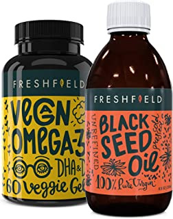Freshfield Vegan Omega 3 and Freshfield Black Seed Oil