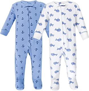 Hudson Baby Unisex Baby Zipper Cotton Sleep and Play