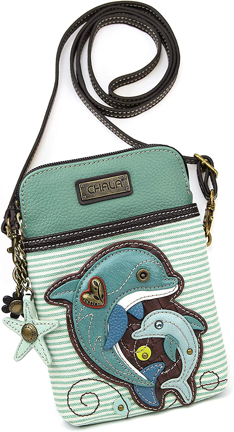 1. Crossbody Cell Phone Purse with Cute Dolphins
