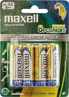 Maxell LR6GD8 Premium Alkaline Battery AA 8 Pack