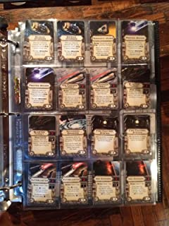 Star Wars Upgrade Card Display Pages 16 Pocket (Pack of 15) Star Wars X-Wing & Imperial Assault for Small and Mini American Sized Cards