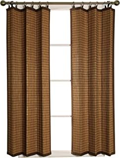 brown ring top curtains