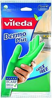 Vileda Dermo Plus Guantes de nitrilo, Talla M, Verde