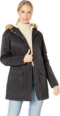 Coated Cotton Parka with Sherpa Lining