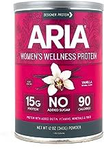 Designer Protein Aria, Vanilla, 12 Ounce, Women's Wellness Protein Powder