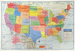 Kappa HJ84345 United States Wall Map USA Poster, Home/School/Office