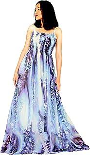 فساتين ماكسي للنساء مقاس كبير ملابس مثيرة للحفلات بدون أكمام مزينة بالزهور (5X، متعدد الألوان)