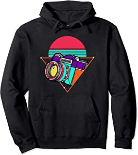 Retro Photography Day Gift   Camera Photographer Pullover Hoodie
