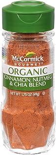 McCormick Gourmet Organic Cinnamon & Nutmeg with Chia Seasoning, 1.75 oz