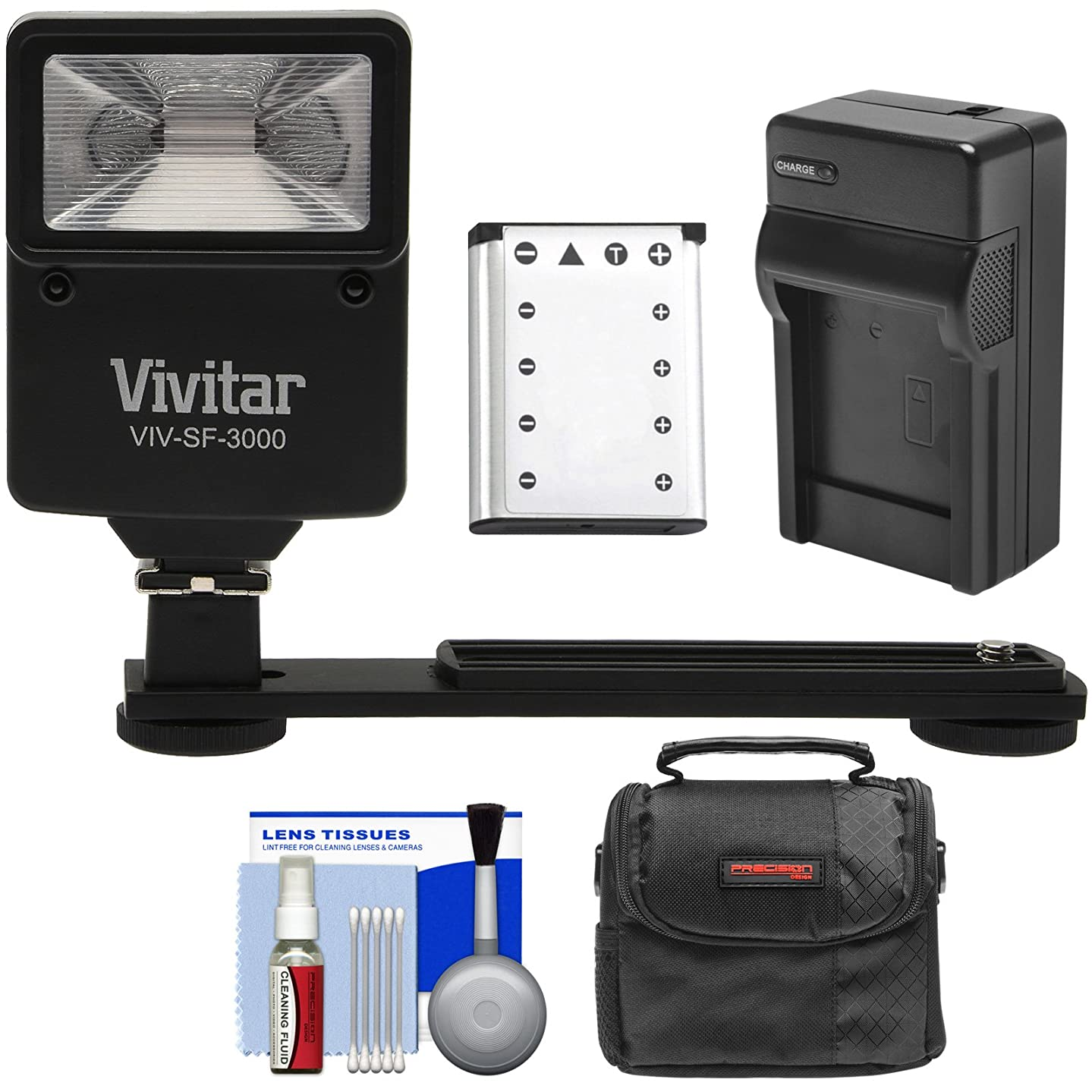 Essentials Bundle for Kodak PixPro FZ51, FZ53 with LB-012 Battery + Charger + Case + Flash & Bracket + Kit