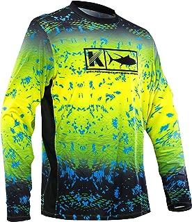 Performance Vented Fishing Shirt Long Sleeve Shirt Mesh Side Vents UPF 50 Dye Sublimation Print