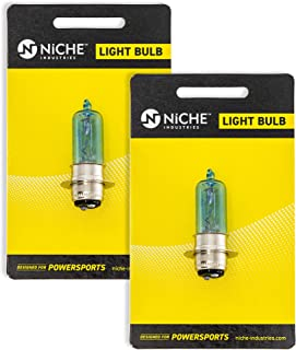 NICHE Headlight Bulb Set For Yamaha Blaster 200 Grizzly 700 Kodiak 450 Kawasaki Mule 300 KFX400 Suzuki King Quad 700