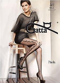 Gatta Paola 46-40den - gemusterte Strumpfhose mit modischem Blumenmuster
