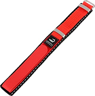 Momentum Women's ZC-14NYL M1 14mm Red Nylon Velcro Watch Strap
