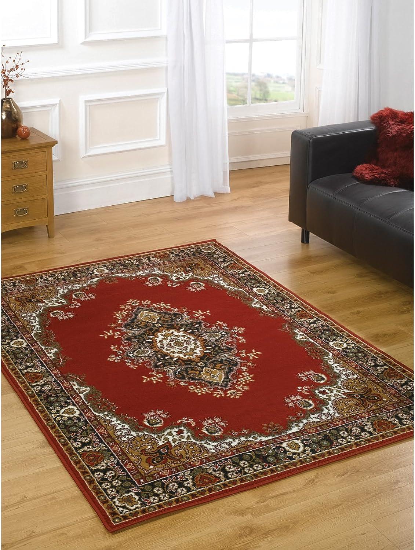 Just Contempo Traditioneller Teppich Teppich, Rot, 160 x 220 cm
