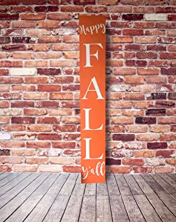 Wuuuu Happy Fall Y'all Merry Christmas Y'all Reversible-Seasonal Reversible Porch Sign Porch Sign Fall Porch Sign Christmas Porch Sign 1235 inches.