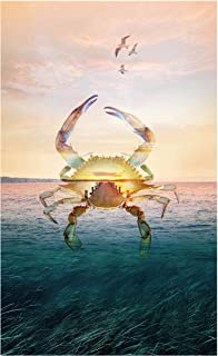 Hoffman Digital Call Of The Wild 26.5'' Crab Panel Seaside Fabric