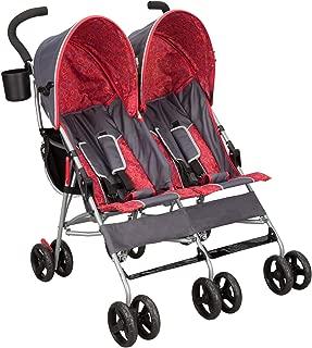 Delta Children City Street LX Side by Side Stroller, Grey