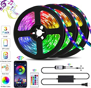 39.42ft LED Strip Lights, QZYL Lights Strip Music Sync,...