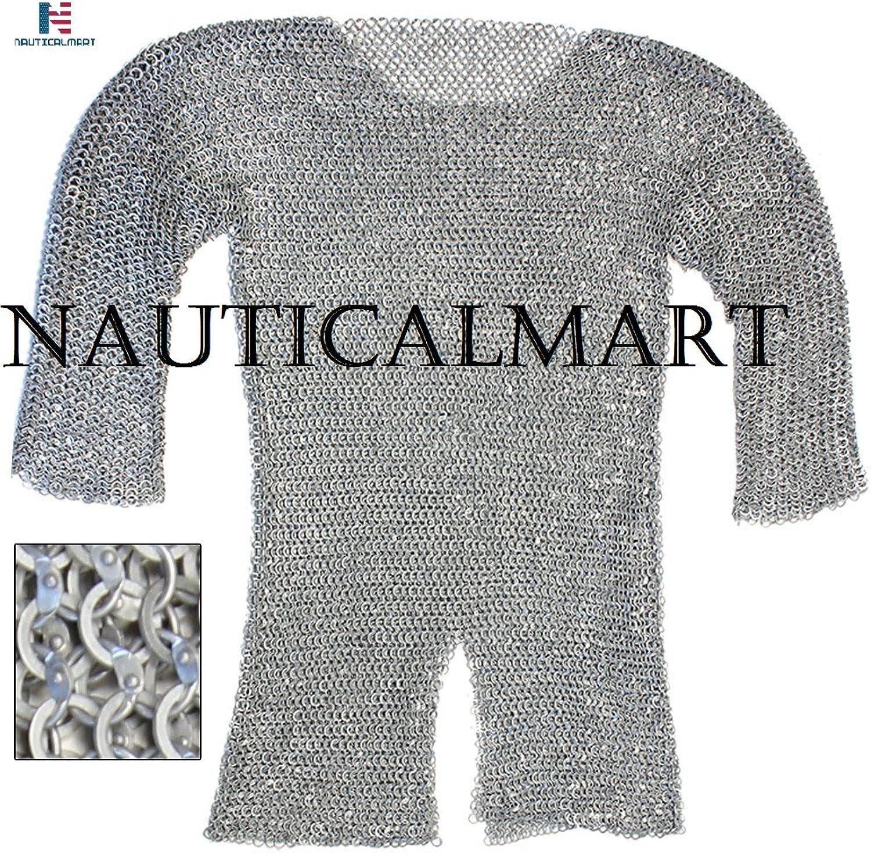 Re-enactment Aluminum Hauberk Chainmail Large NauticalMart